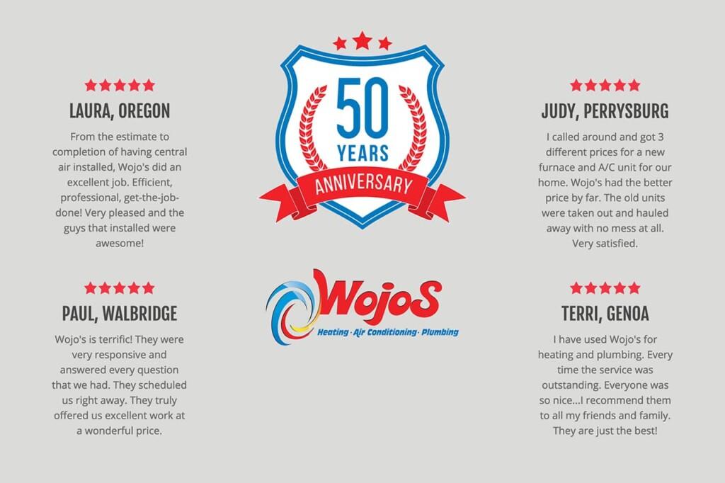 Wojo's Testimonials