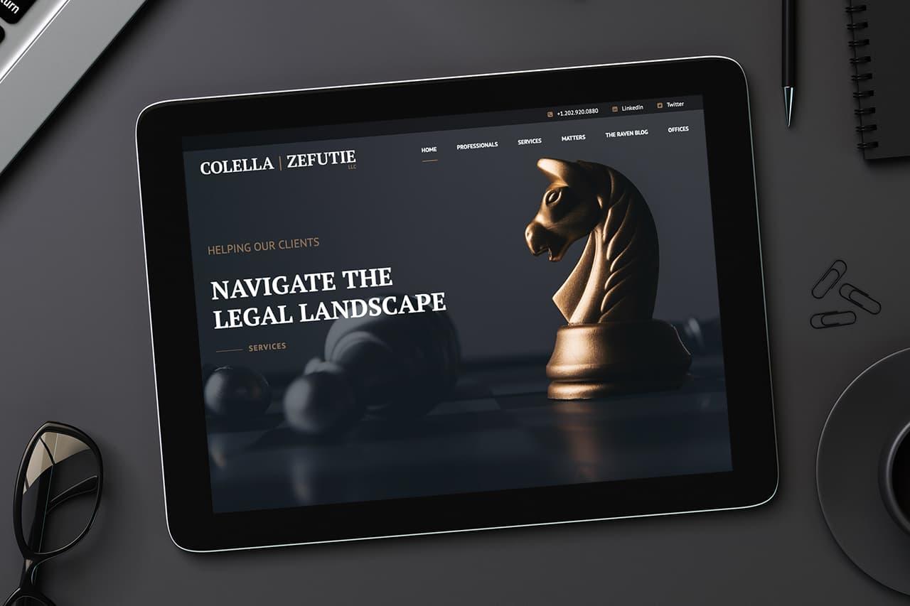 Colella Zefutie Website Design