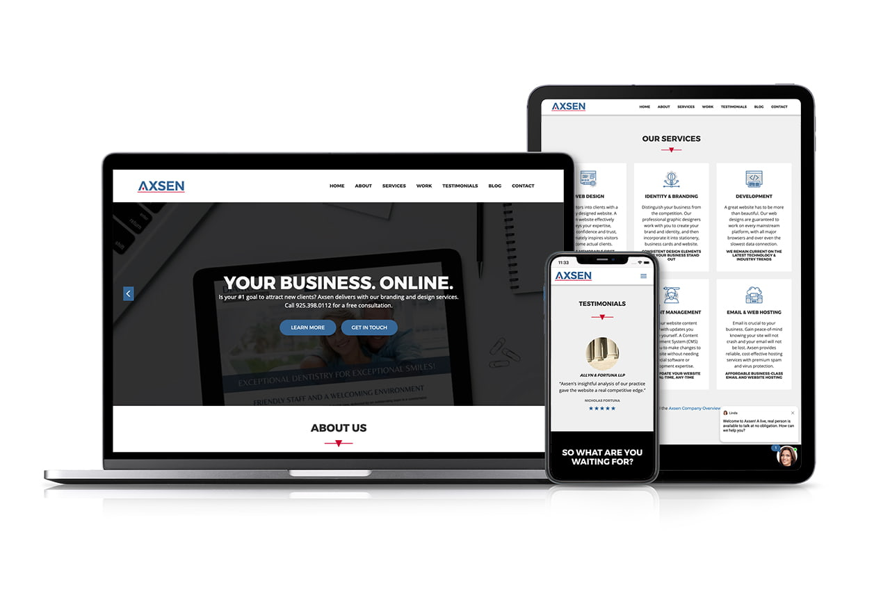 Can Axsen help with your website redesign?